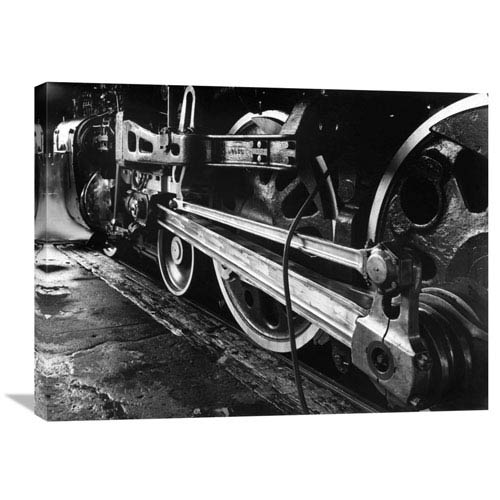 Global Gallery Vintage Steam Locomotive By Gordon Osmundson, 32 X 24-Inch Wall Art