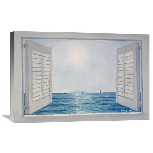 Global Gallery Open Shutters By Diane Romanello, 30 X 20-Inch Wall Art