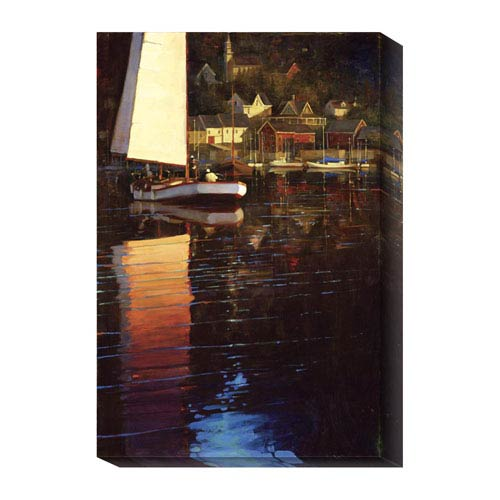 Global Gallery New England Sunset Sail by Brent Lynch: 16 x 24 Canvas Giclees