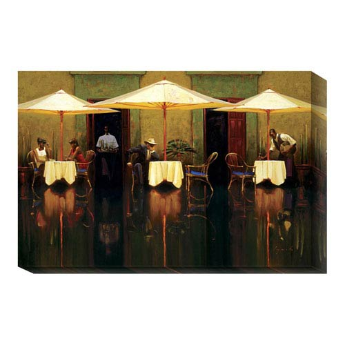 Global Gallery Spanish Cafe by Brent Lynch: 24 x 16 Canvas Giclees