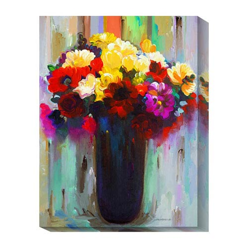 Global Gallery Flowers in a Vase III by Hooshang Khorasani: 18 x 24 Canvas Giclees