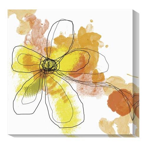 Global Gallery Butterfly Flower II by Jan Weiss: 20 x 20 Canvas Giclees