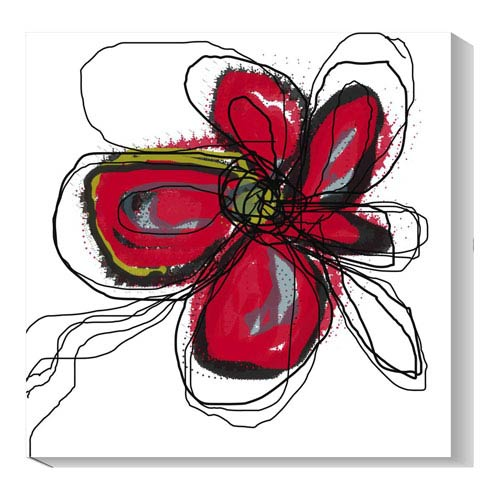 Global Gallery Butterfly Red by Jan Weiss: 20 x 20 Canvas Giclees