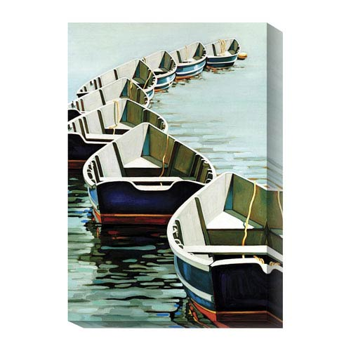 Global Gallery Boats by Kristen Funkhouser: 16 x 24 Canvas Giclees