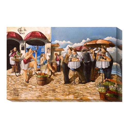 Global Gallery The Photographer by Ronald West: 36 x 24 Canvas Giclees