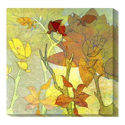 Global Gallery Autumn Textures by Jan Weiss: 36 x 36 Canvas Giclees