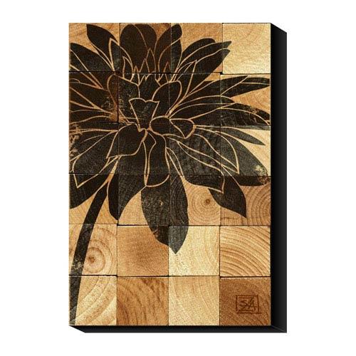 Global Gallery Dahlia Wood Block by Suzanna Anna: 24 x 36 Canvas Giclees