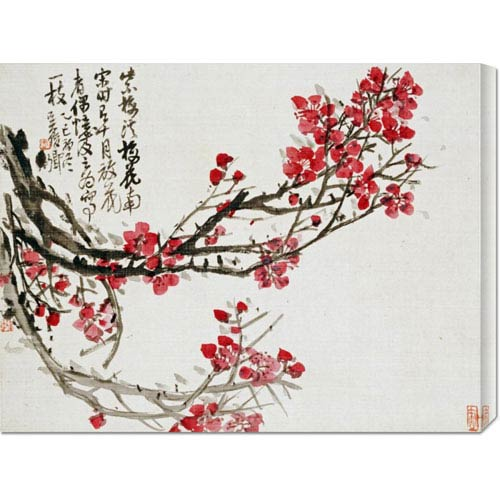 Global Gallery Plum Blossoms by Wu Changshuo: 30 x 22.98 Canvas Giclees, Wall Art