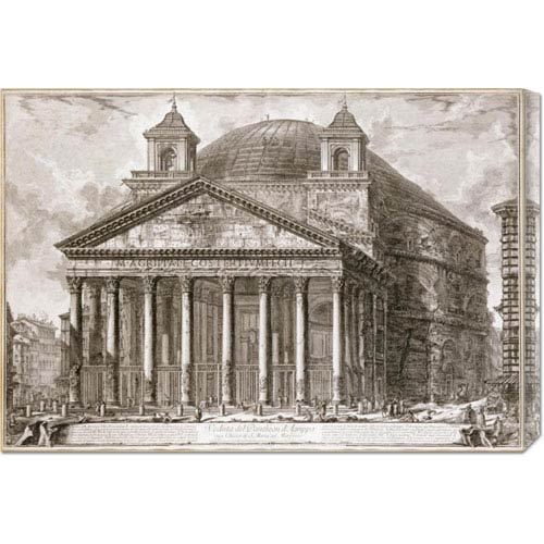 Global Gallery A View of The Pantheon, Rome by Giovanni Battista Piranesi: 30 x 21.21 Canvas Giclees, Wall Art