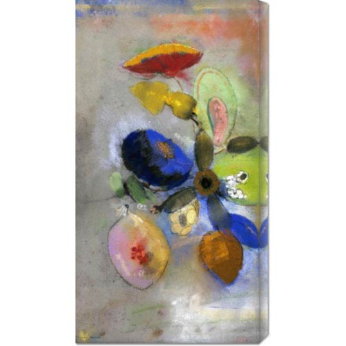 Global Gallery Flowers by Odilon Redon: 19.3 x 36 Canvas Giclees, Wall Art