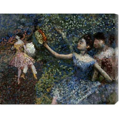 Global Gallery Dancer With a Tambourine by Edgar Degas: 30 x 19.71 Canvas Giclees, Wall Art