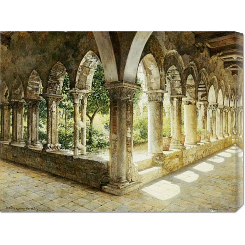 Global Gallery Cefalu Cloisters, Sicily by Josef Theodor Hansen: 30 x 22.98 Canvas Giclees, Wall Art
