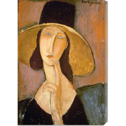 Global Gallery Head of a Woman by Amedeo Modigliani: 20.6 x 30 Canvas Giclees, Wall Art