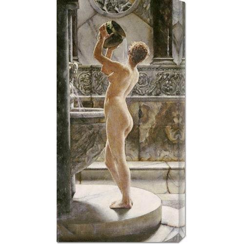 Global Gallery The Bath by John Reinhard Weguelin: 18.2 x 36 Canvas Giclees, Wall Art