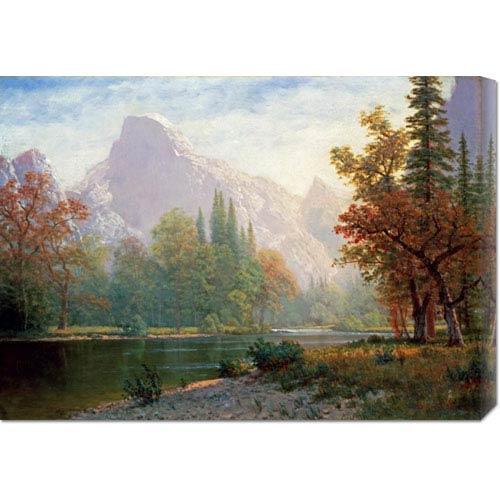 Global Gallery Half Dome: Yosemite by Albert Bierstadt: 30 x 21.45 Canvas Giclees, Wall Art
