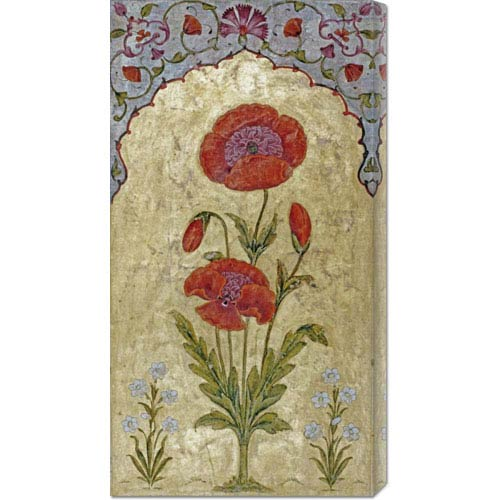 Global Gallery Poppy Blossoms by Oudh: 19.1 x 36 Canvas Giclees, Wall Art