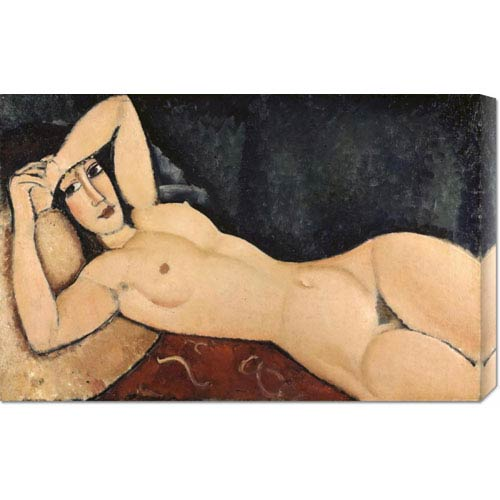 Global Gallery Reclining Nude by Amedeo Modigliani: 30 x 19.32 Canvas Giclees, Wall Art
