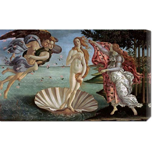 Global Gallery The Birth of Venus by Sandro Botticelli: 30 x 18.75 Canvas Giclees, Wall Art