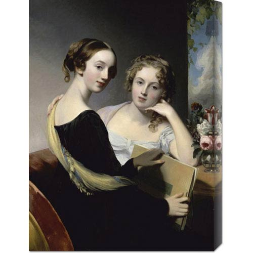 Global Gallery Portrait of the McEven Sisters by Thomas Sully: 22.1 x 30 Canvas Giclees, Wall Art