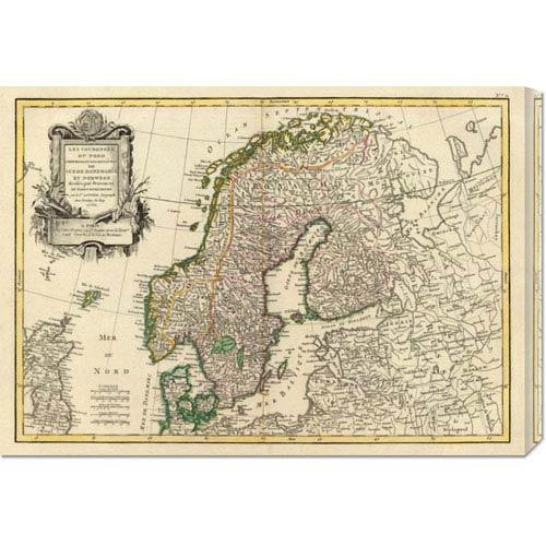 Global Gallery Suede, Danemarck et Norwege, 1762 by Jean Janvier: 30 x 21.06 Canvas Giclees, Wall Art