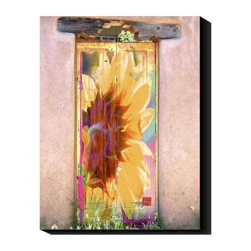 Global Gallery Sunflower Door by Suzanne Silk: 24 x 32 Canvas Giclees