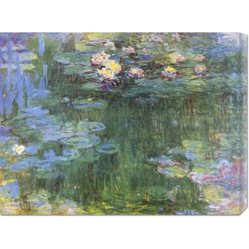 Global Gallery Waterlilies 1916 III Claude Monet: 30 x 22.8 Canvas Giclees, Wall Art
