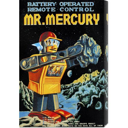 Global Gallery Battery Operated Remote Control Mr. Mercury: 24 x 16 Canvas Giclees, Wall Art