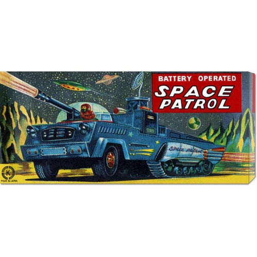 Global Gallery Space Patrol: 12 x 24 Canvas Giclees, Wall Art