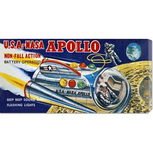 Global Gallery U.S.A. NASA Apollo: 12 x 24 Canvas Giclees, Wall Art