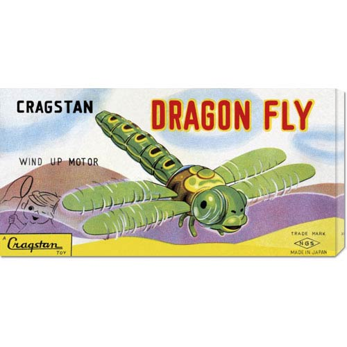 Global Gallery Cragstan Dragon Fly: 12 x 24 Canvas Giclees, Wall Art
