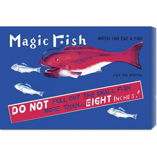 Global Gallery Magic Fish: 16 x 24 Canvas Giclees, Wall Art