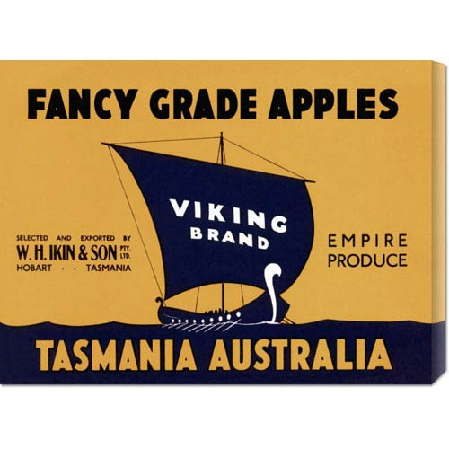Global Gallery Viking Brand Fancy Grade Apples: 16.5 x 22 Canvas Giclees, Wall Art