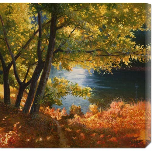 Global Gallery Radura Sul Fiume by Adriano Galasso: 24 x 24 Canvas Giclees, Wall Art