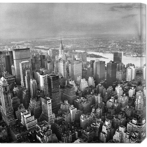 Global Gallery New York Skyline: 24 x 24 Canvas Giclees, Wall Art