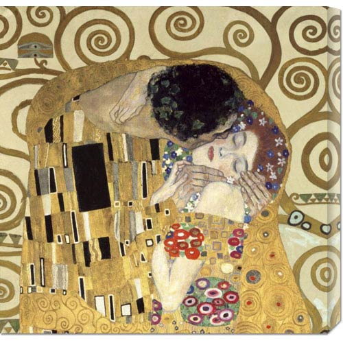 Global Gallery The Kiss By Gustav Klimt 24 X 24 Canvas Giclees