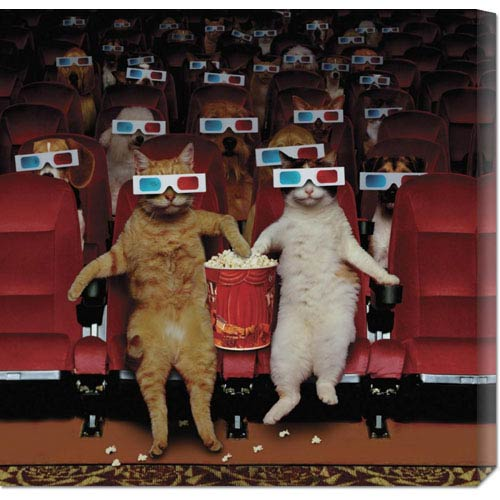 Global Gallery 3-D Movie by John Lund: 24 x 24 Canvas Giclees, Wall Art