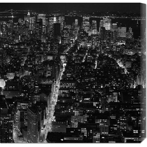 Global Gallery Manhattan by Night by Philippe Levy-Stab: 24 x 24 Canvas Giclees, Wall Art