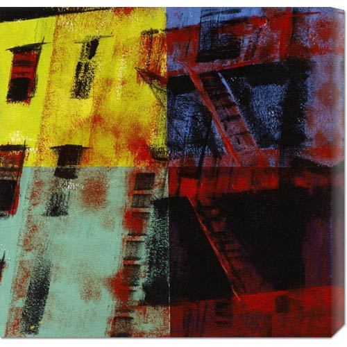 Global Gallery Multicolored Escapes by Patti Mollica: 24 x 24 Canvas Giclees, Wall Art
