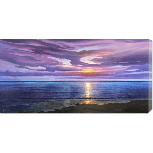 Global Gallery Tramonto sognante by Adriano Galasso: 36 x 18 Canvas Giclees, Wall Art