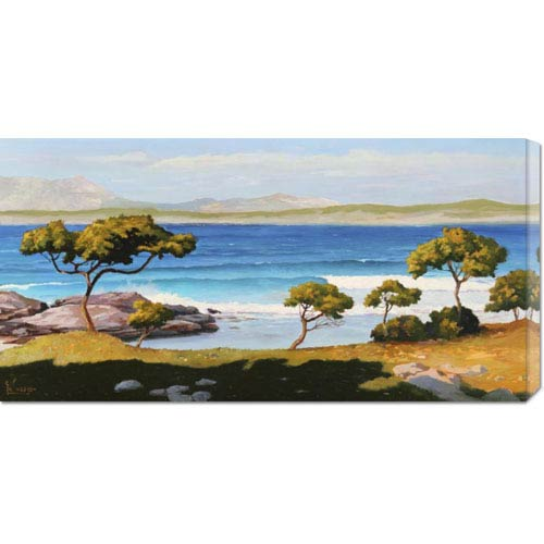 Global Gallery Spiaggia Del Mediterraneo by Adriano Galasso: 36 x 18 Canvas Giclees, Wall Art