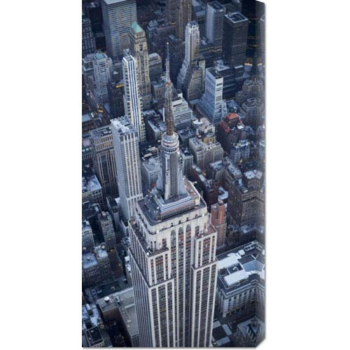 Global Gallery Aerial View of the Empire State Building by Cameron Davidson: 18 x 36 Canvas Giclees, Wall Art