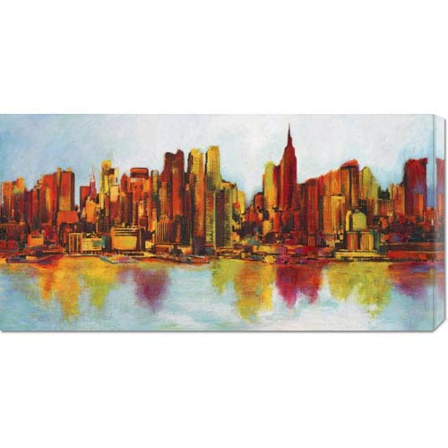 Global Gallery New York Abskyline by Claude Becaud: 36 x 18 Canvas Giclees, Wall Art