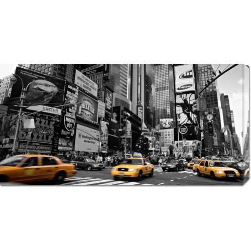 Global Gallery Times Square, New York City, USA by Doug Pearson: 36 x 18 Canvas Giclees, Wall Art