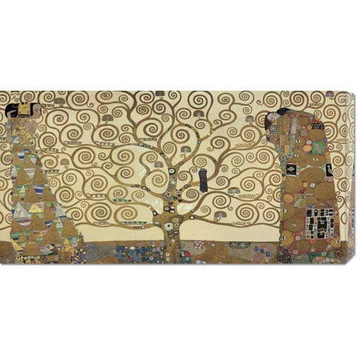 Global Gallery The Tree of Life by Gustav Klimt: 36 x 18 Canvas Giclees, Wall Art