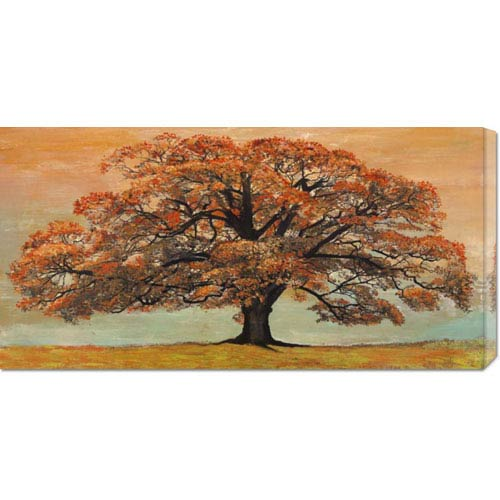 Global Gallery Oak by Jan Eelder: 36 x 18 Canvas Giclees, Wall Art