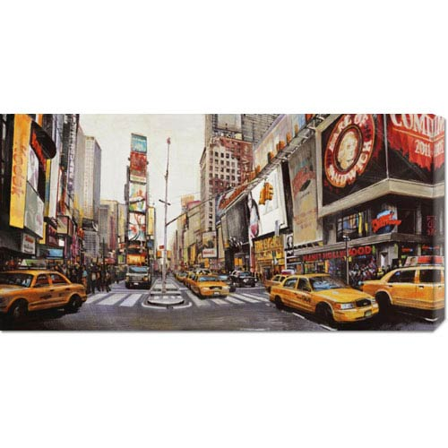 Global Gallery Times Square Perspective by John B. Mannarini: 36 x 18 Canvas Giclees, Wall Art