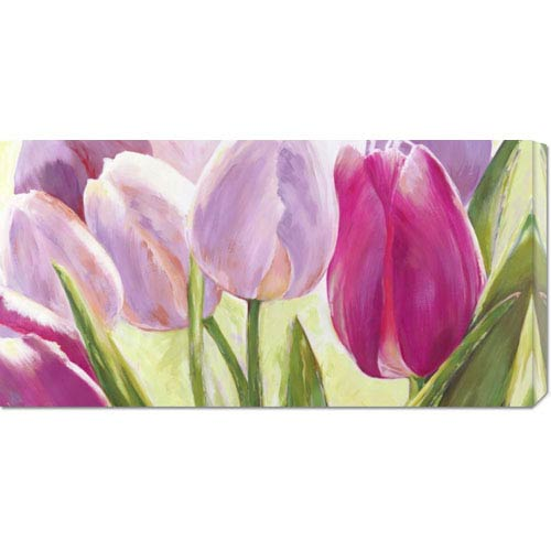 Global Gallery Tulipes by Leonardo Sanna: 36 x 18 Canvas Giclees, Wall Art