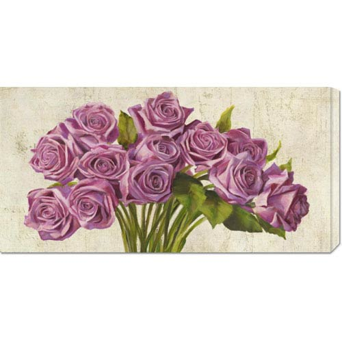 Global Gallery Roses by Leonardo Sanna: 36 x 18 Canvas Giclees, Wall Art