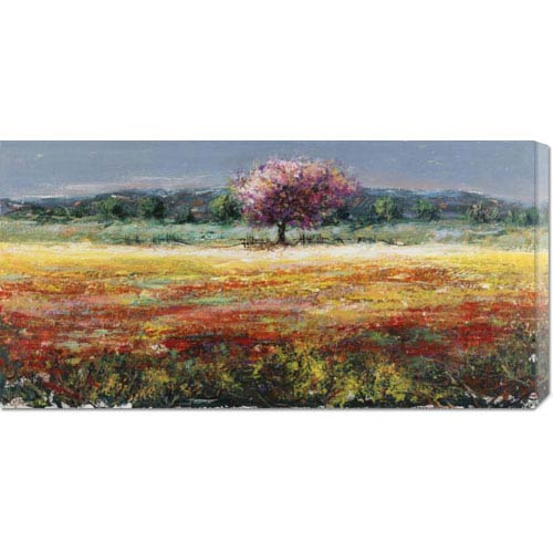 Global Gallery Lalbero Rosa by Luigi Florio: 36 x 18 Canvas Giclees, Wall Art