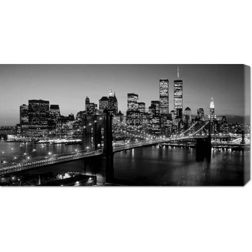 Global Gallery Brooklyn Bridge, NYC by Richard Berenholtz: 36 x 18 Canvas Giclees, Wall Art